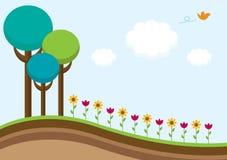 Wiosna jest w powietrzu ilustracja wektor