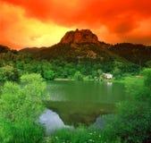 Wiosna jezioro Zdjęcia Royalty Free