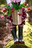 wiosna kolorowi tulipany Zdjęcia Stock