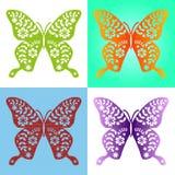 Wiosna koloru motyli skład Ilustracja ablegrująca dla łatwej manipulaci i zwyczaju kolorystyki wektor Obraz Stock
