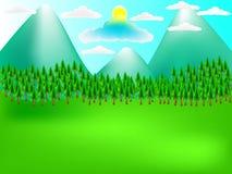 Wiosna krajobraz góry Fotografia Royalty Free