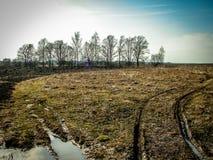 Wiosna krajobraz w Kaluga regionie (Rosja) Obraz Royalty Free