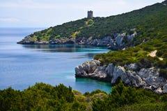 Wiosna krajobraz w Sardinia, Włochy zdjęcie stock