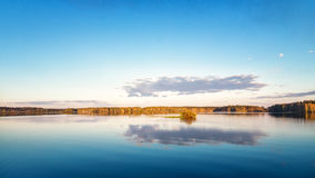 Wiosna krajobraz w Ural Irtysh rzeka, Rosja, Fotografia Royalty Free