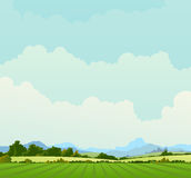 wiosna krajobrazowy wiejski lato Zdjęcia Stock