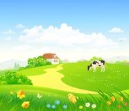 Wiosna kraju sceneria ilustracja wektor