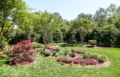 Wiosna Kształtuje teren publicznie ogród Zdjęcie Stock