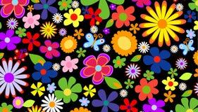 wiosna kwiat tło ilustracji