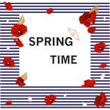 Wiosna, kwiatu tło Zdjęcia Stock