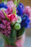 Wiosna kwiatu tulipan w bukiet makro- miękkiej części Zdjęcie Stock
