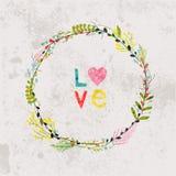 Wiosna kwitnie, liście, dandelion, trawa na rocznika tle Zdjęcia Royalty Free