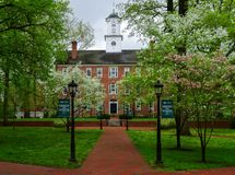 Wiosna kwitnie przy Ohio uniwersytetem obrazy royalty free