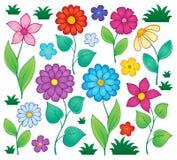 Wiosna kwitnie tematowego set 3 Zdjęcia Stock