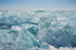 Wiosna lód jeziorny Baikal Obraz Stock