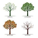 Wiosna, lato, jesień, zim drzewa również zwrócić corel ilustracji wektora ilustracja wektor