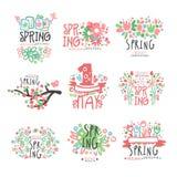Wiosna, 1 Maja ustalony oryginalny projekt Wiosna wakacje, Pierwszy Maj, Międzynarodowa kolorowa ręka rysujący święto pracy wekto Obrazy Stock