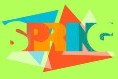Wiosna modnisia literowania geometryczny wektor ilustracja wektor