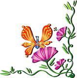 Wiosna motyl zdjęcie stock