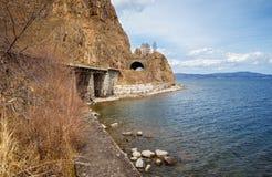 Wiosna na Baikal drodze Zdjęcia Stock