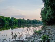 Wiosna na Danube rzece w Serbia Obrazy Royalty Free