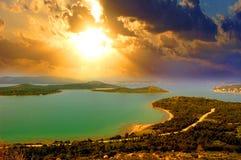Wiosna na morzu egejskim Fotografia Royalty Free