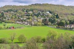 Wiosna nad Grindlleford w Angielskim Szczytowym okręgu fotografia royalty free