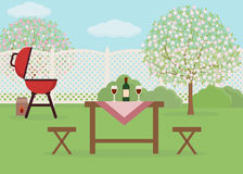 Wiosna pinkin w ogródzie Odpoczywać w słonecznym dniu Zdjęcie Stock