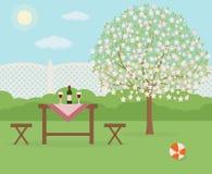 Wiosna pinkin w ogródzie Odpoczywać w słonecznym dniu Fotografia Stock