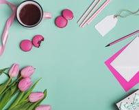 Wiosna projektujący desktop zdjęcie royalty free