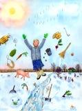 Wiosna - Czyści Twój rutynę ilustracji