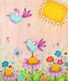 Wiosna ptaki Obrazy Royalty Free