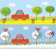 wiosna samochodowy śliczny drogowy lato w Zdjęcie Royalty Free