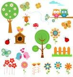 Wiosna set ilustracji