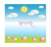 Wiosna sezon na błękitnym tle Zdjęcia Stock