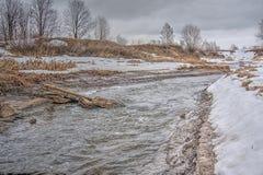 Wiosna strumień Obrazy Royalty Free