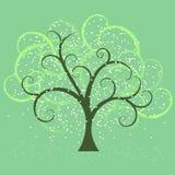 wiosna swirly drzewo ilustracji