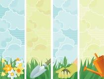 Wiosna sztandary ilustracji