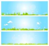 Wiosna sztandary Obraz Stock