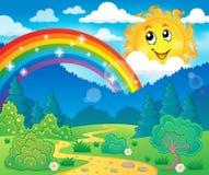 Wiosna tematu krajobraz 6 royalty ilustracja