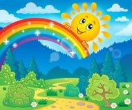 Wiosna tematu krajobraz 8 royalty ilustracja