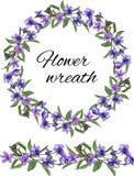 Wiosna ustawiaj?ca kwieci?ci wzory, ornamenty i wektor?w wianki delikatni fio?k?w kwiaty, dekorowa? karty, projekt?w powitania ilustracja wektor