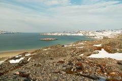 Wiosna w arktycznym Barencevo morze Fotografia Stock