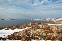 Wiosna w arktycznym Barencevo morze Obrazy Royalty Free