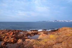 Wiosna w arktycznym Barencevo morze Zdjęcia Royalty Free
