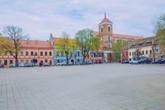 Wiosna w Lithuania Widoku stary kasztel w Kaunas obraz royalty free