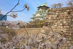 Wiosna w Osaka kasztelu Zdjęcie Stock