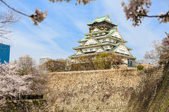 Wiosna w Osaka kasztelu Zdjęcia Stock