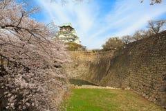 Wiosna w Osaka kasztelu Fotografia Stock