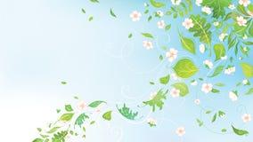 Wiosna w powietrzu ilustracji