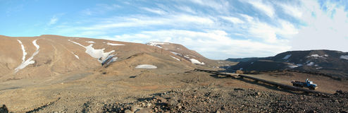 Wiosna w tundrze (panorama północny Syberia) Zdjęcia Royalty Free